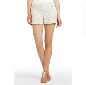 BCBGMaxAzria Pia Off-White Lace Shorts